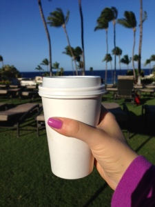 Almond Milk Latte with a View. #TheBestPartOfWakingUp